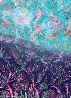 jardin-de-lumiere-9-2009-technique-mixte-sur-toile-41-x-33-cm