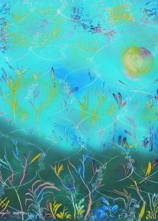 jardin-de-lumiere-4-2009-technique-mixte-sur-toile-41-x-33-cm