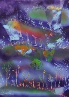jardin-de-lumiere-14-2011-technique-mixte-sur-toile-41-x-33-cm