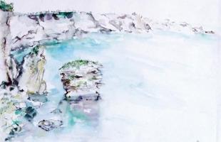 bonifacio-corsica-2000-watercolour-on-paper-42-x-56-cm