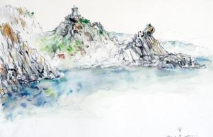 phare-de-capo-di-muro-corse-2001-2005-aquarelle-sur-papier-42-x-56-cm