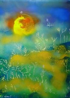 jardin-de-lumiere-17-2011-technique-mixte-sur-toile-41-x-33-cm