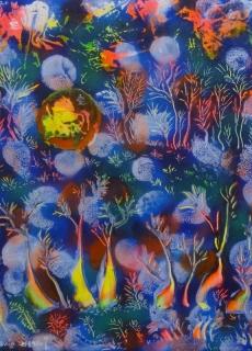 jardin-de-lumiere-10-2011-technique-mixte-sur-toile-41-x-33-cm