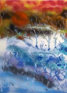 jardin-de-lumiere-12-2011-technique-mixte-sur-toile-41-x-33-cm